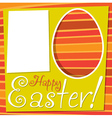 Bright retro happy easter card in format vector