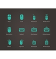 Keypad and mouse icons vector