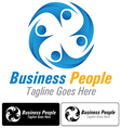 Business people logo vector