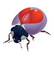 Red heart bug vector
