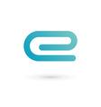 Letter e clip logo icon vector