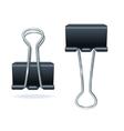Black binder clip set vector