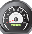 Car speedometers for racing design vector