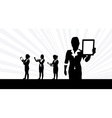 Business people tablets1 vector