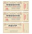 Wedding invite tickets vector