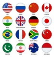 Set of round flags buttons - 1 vector