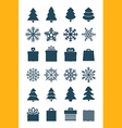 Christmas season elements collection vector