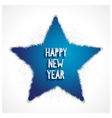 Happy new year greeting card with 3d star vector