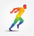 Running geometric concept design colour vector