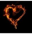 Fire heart vector