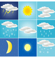 Varied weather vector