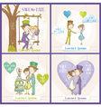 Save the date wedding card set vector