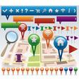 Navigation elements vector