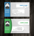 Premium business card set eps10 vector
