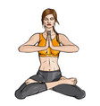 Lotus yoga vector