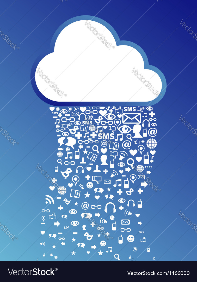 Cloud computing icon background vector | Price: 1 Credit (USD $1)