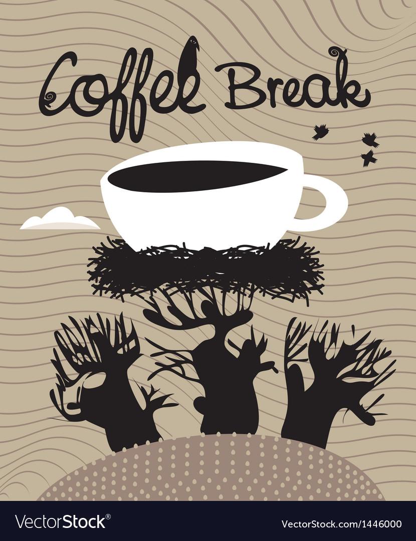 Coffee spring vector | Price: 1 Credit (USD $1)