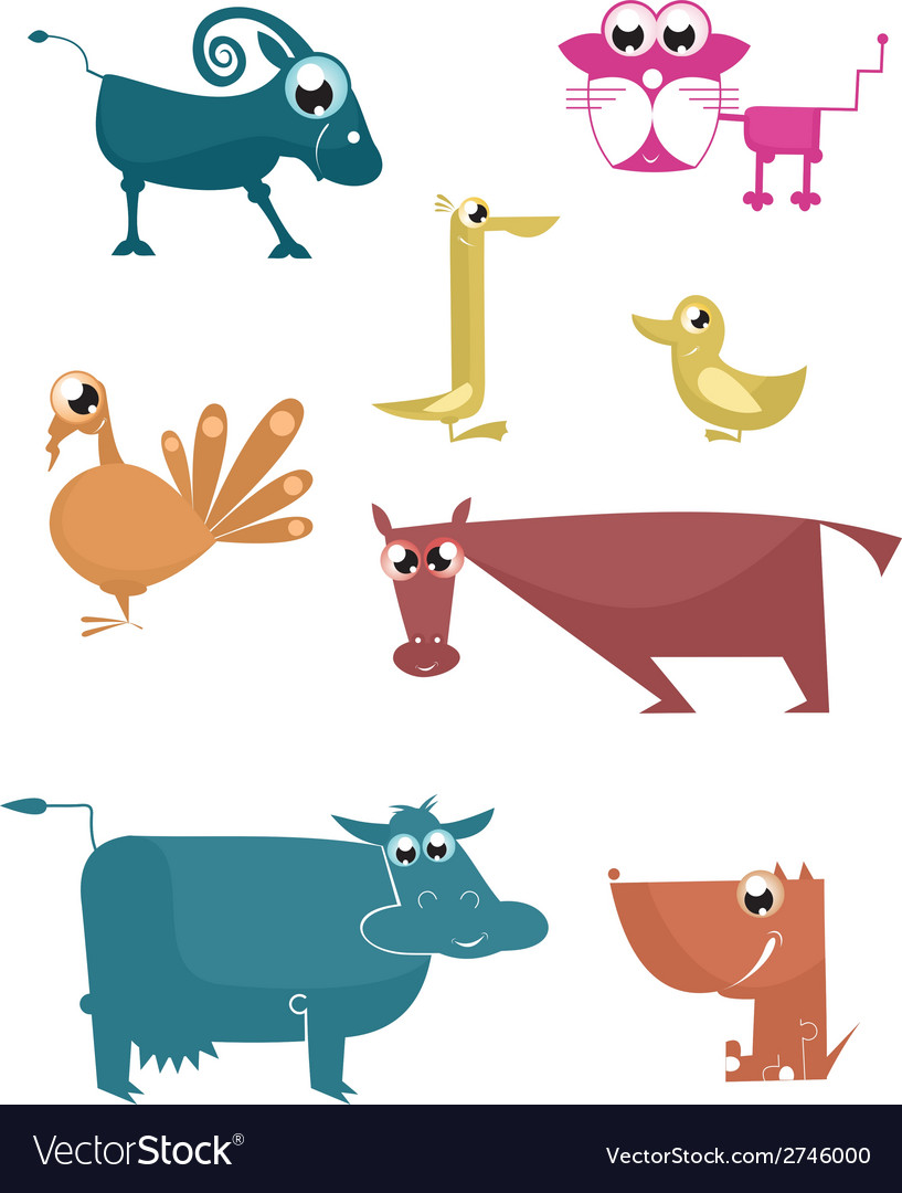 Comic farm animal vector | Price: 1 Credit (USD $1)