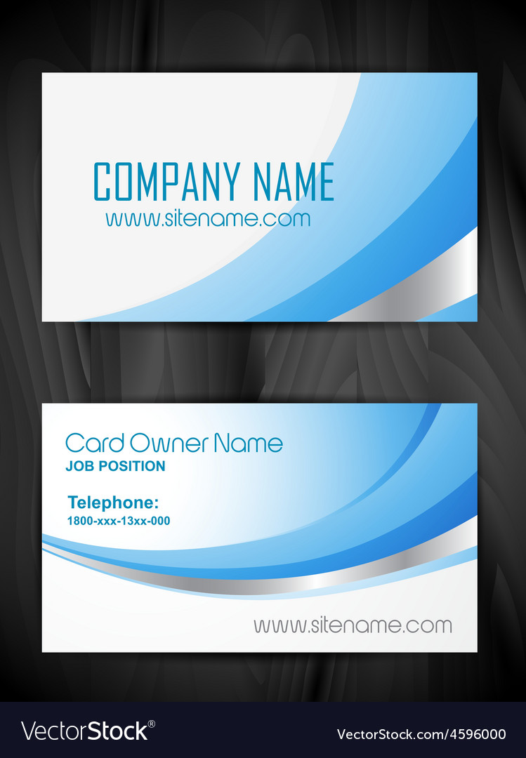 Creative business card template design vector | Price: 1 Credit (USD $1)