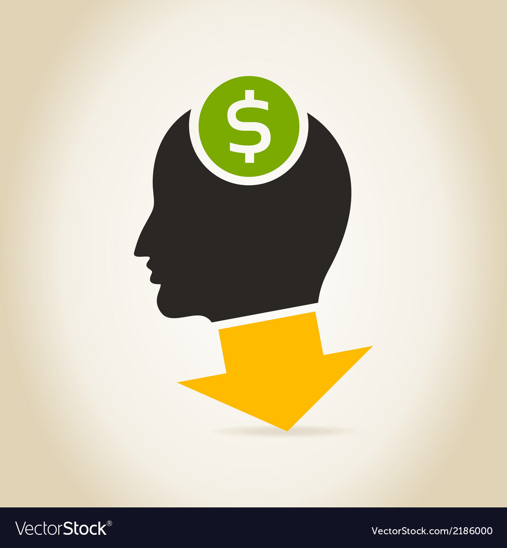Head an arrow dollar vector | Price: 1 Credit (USD $1)