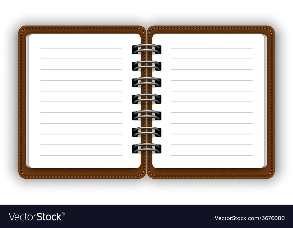 Open notebook vector | Price: 1 Credit (USD $1)