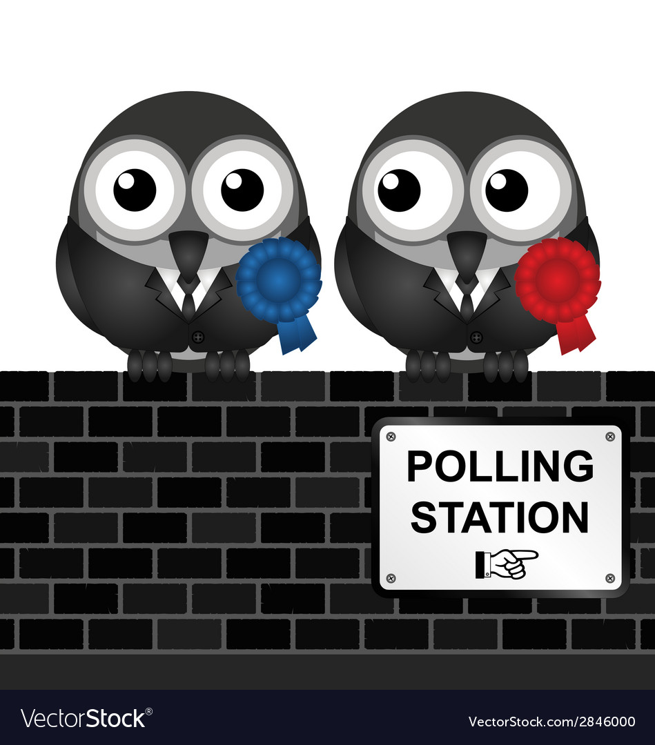 Polling station vector | Price: 1 Credit (USD $1)