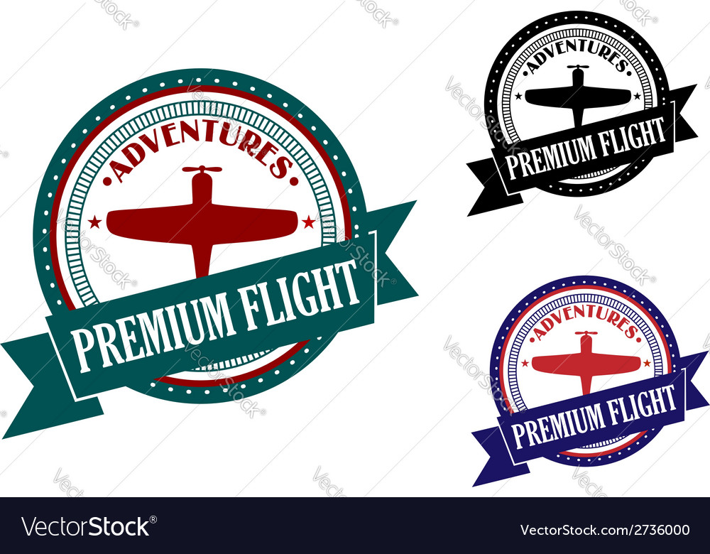Premium flight adventures symbol vector | Price: 1 Credit (USD $1)