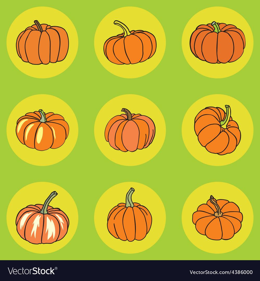 Pumpkin icons vector | Price: 1 Credit (USD $1)