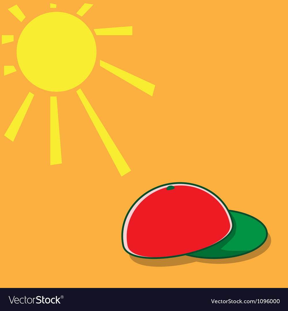 Sun and hat vector | Price: 1 Credit (USD $1)