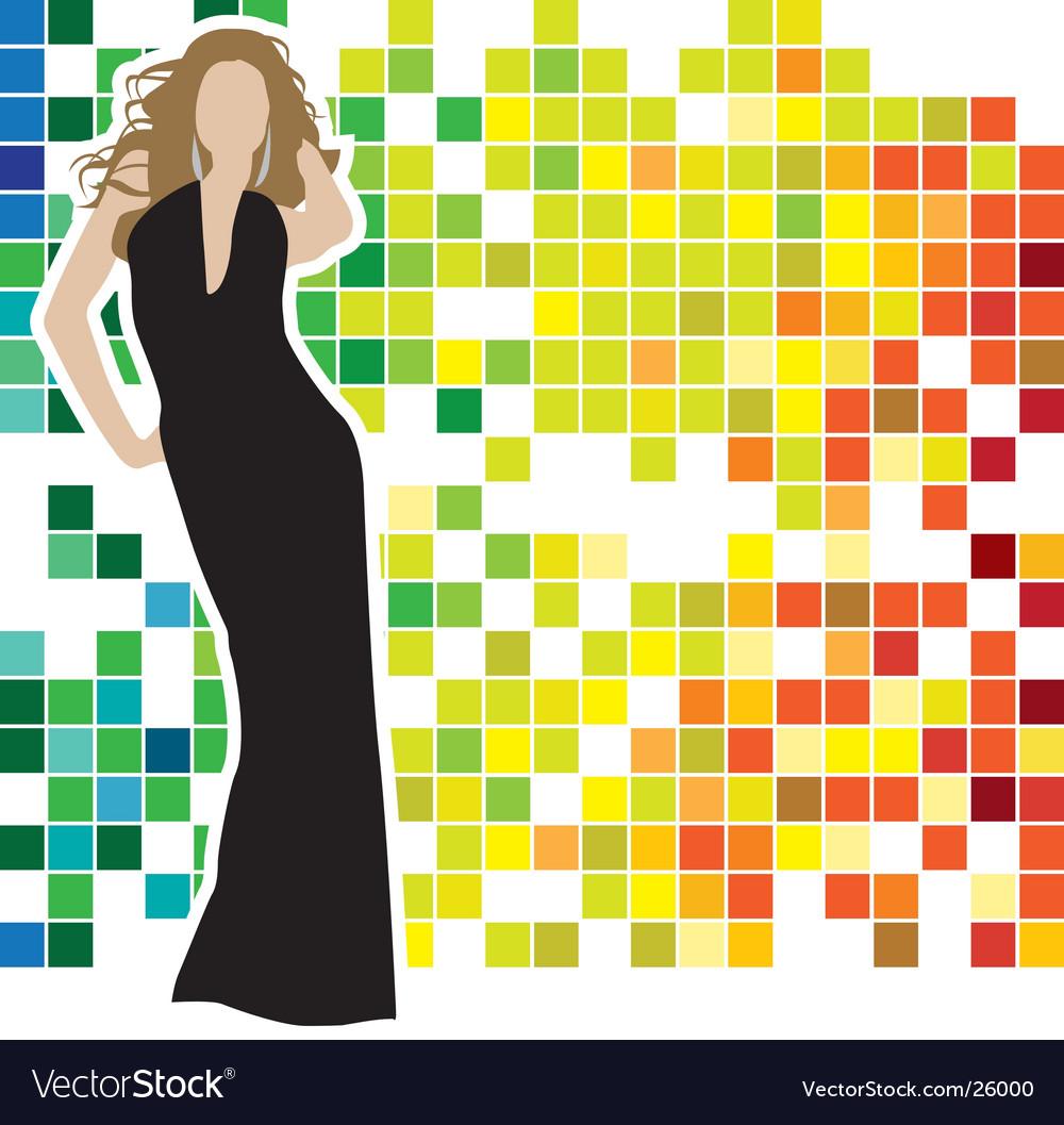 Woman posing vector   Price: 1 Credit (USD $1)