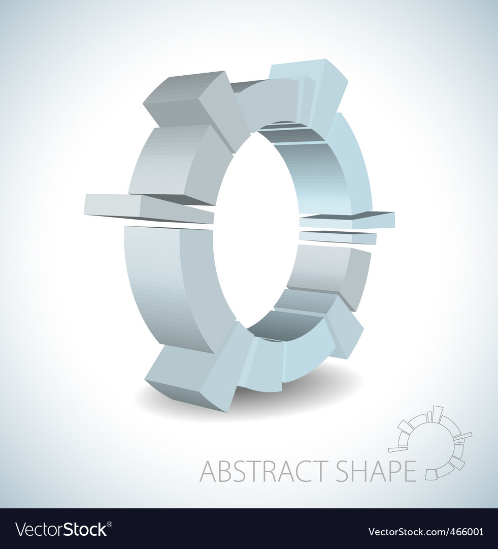 Abstract 3d shape vector | Price: 1 Credit (USD $1)