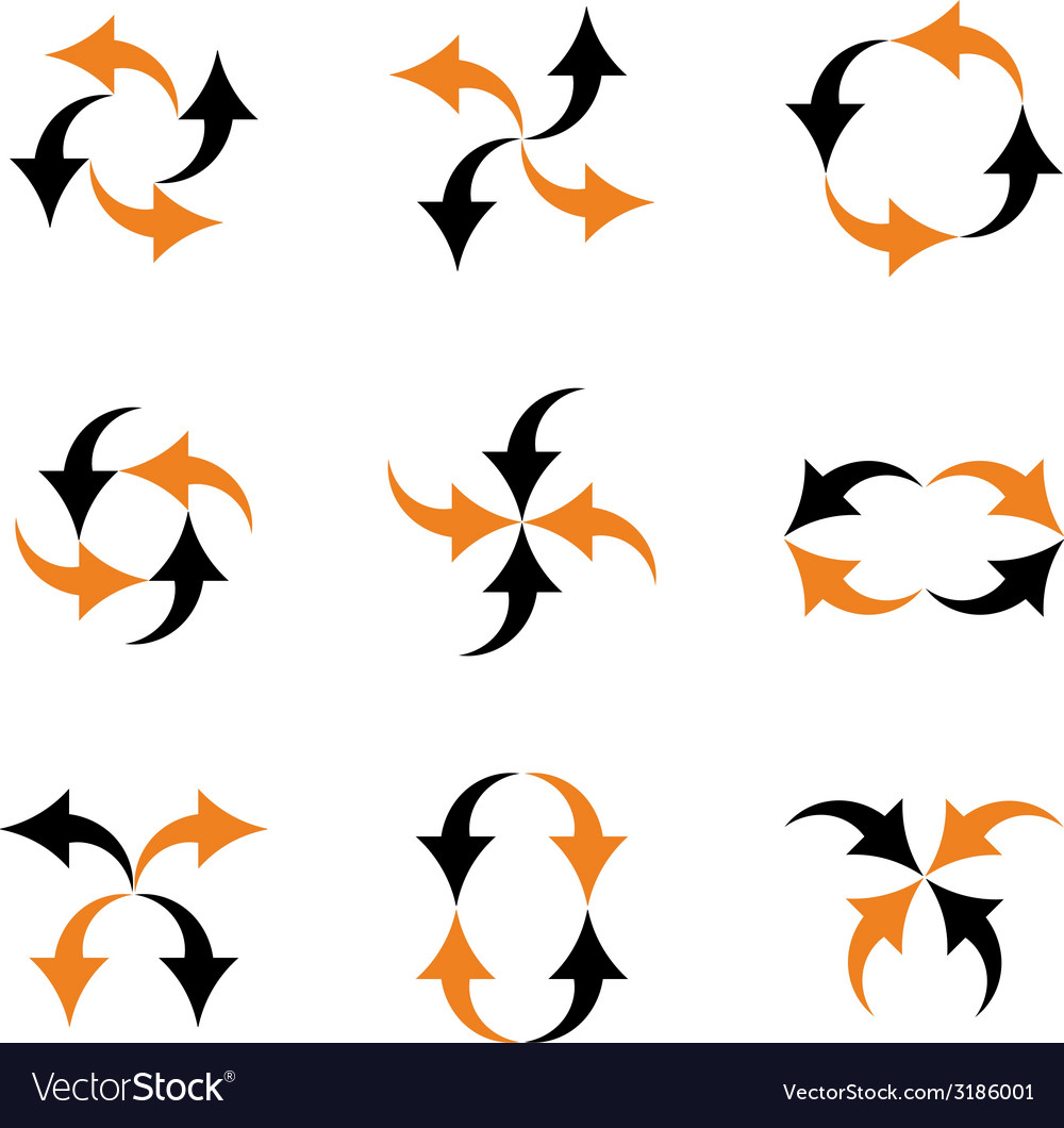 Arrows composition vector | Price: 1 Credit (USD $1)
