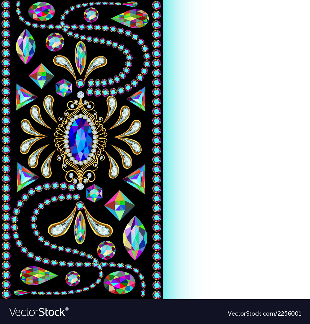 Background of jewelry and precious stones vector | Price: 1 Credit (USD $1)