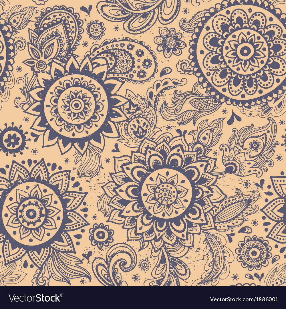 Beautiful floral seamless vector | Price: 1 Credit (USD $1)