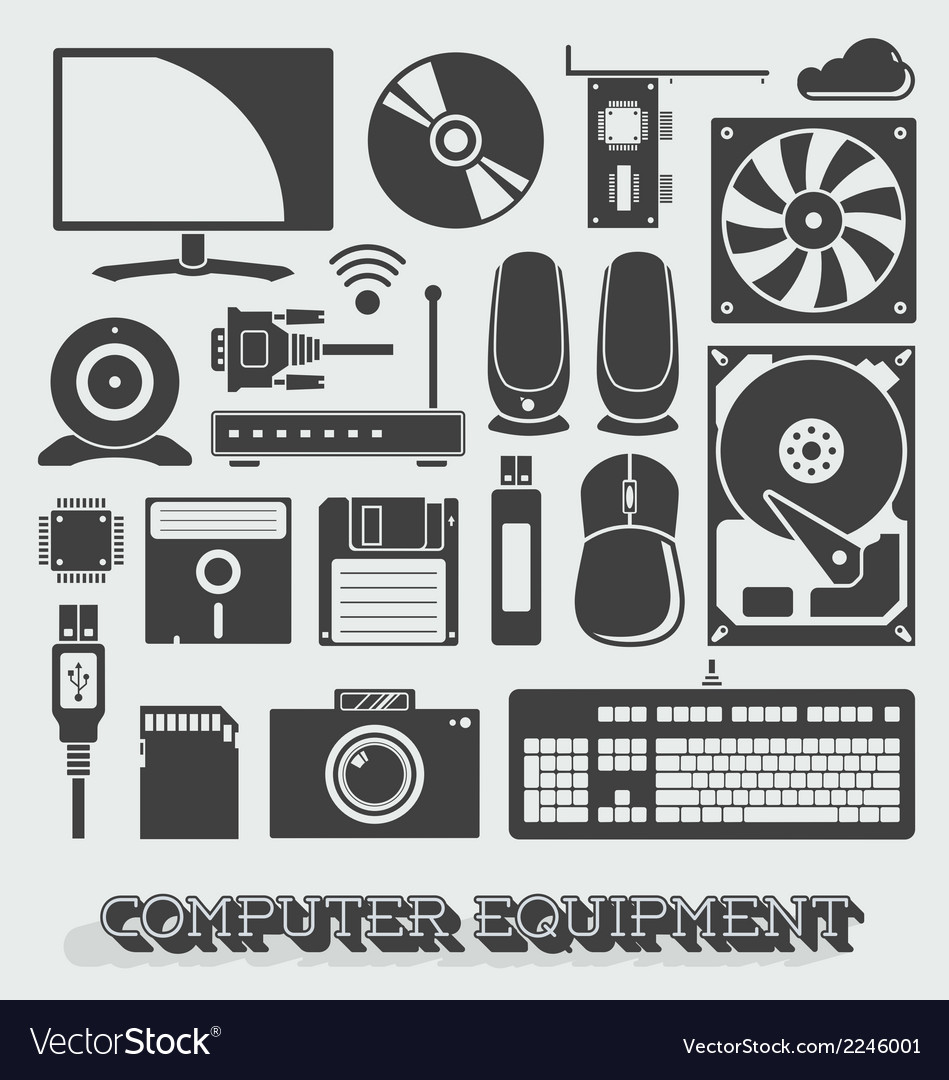 Computer parts vector | Price: 1 Credit (USD $1)