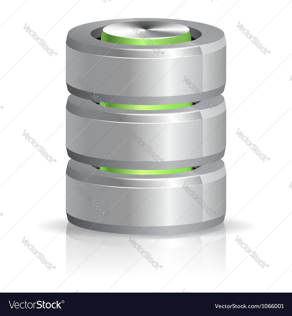 Database and hard disk icon vector | Price: 1 Credit (USD $1)