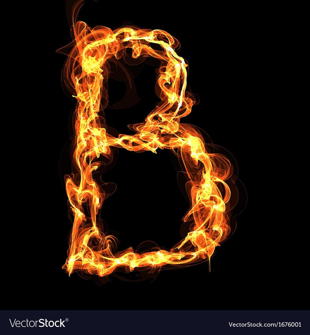 Fire alphabet letter vector | Price: 1 Credit (USD $1)