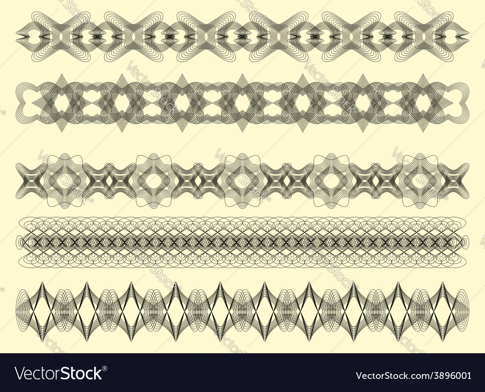 Five decorative lines vector | Price: 1 Credit (USD $1)