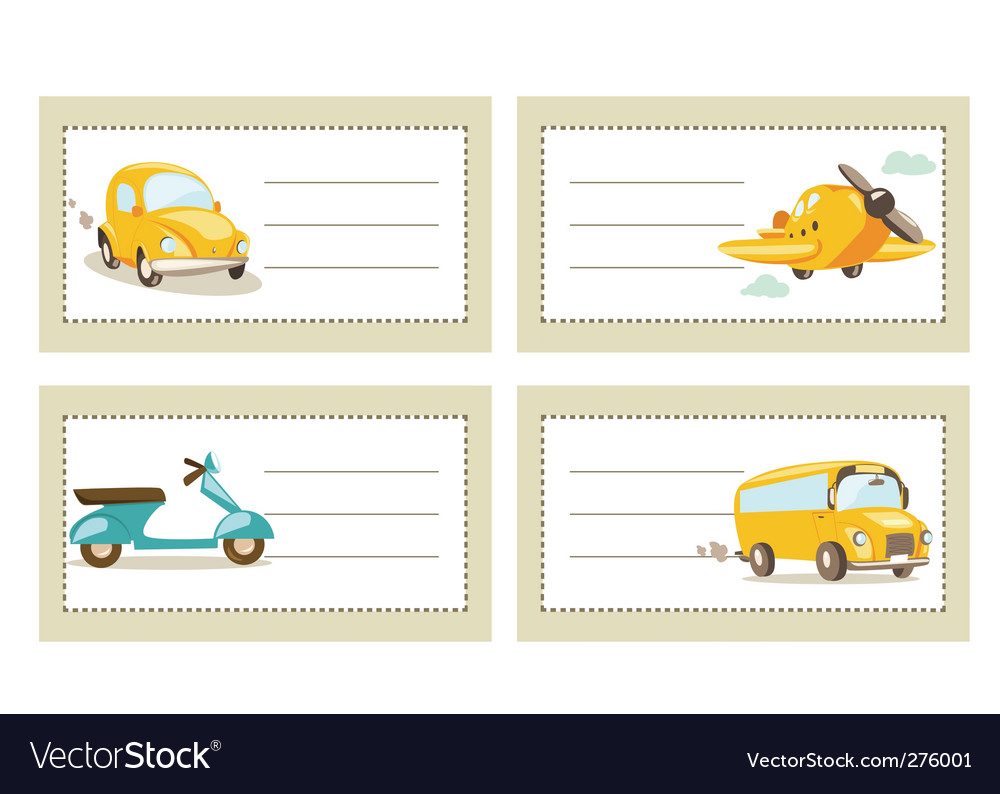 Transport tags vector | Price: 1 Credit (USD $1)