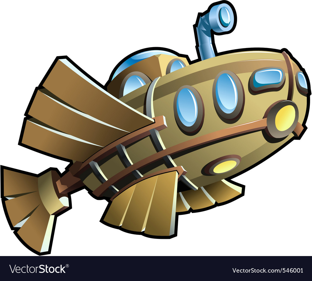 Wooden submarine vector | Price: 1 Credit (USD $1)