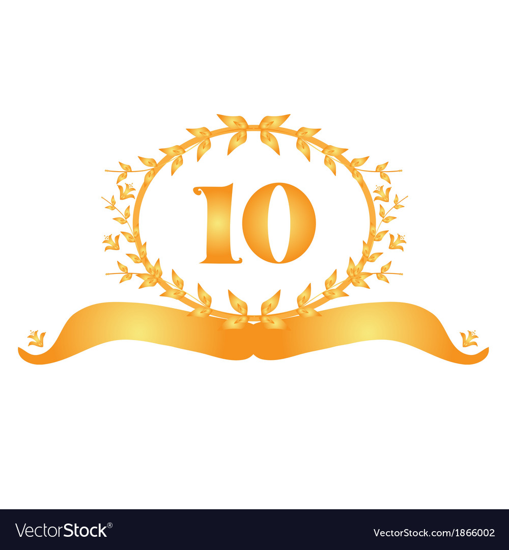 10th anniversary banner vector | Price: 1 Credit (USD $1)