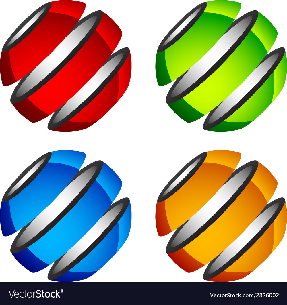 Abstract shiny colored globes vector