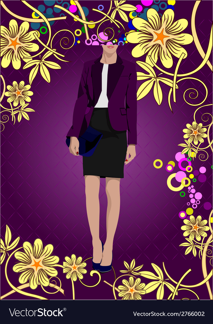 Al 0738 woman poster 03 vector | Price: 1 Credit (USD $1)