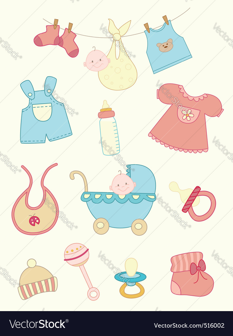 Baby icons set vector | Price: 1 Credit (USD $1)