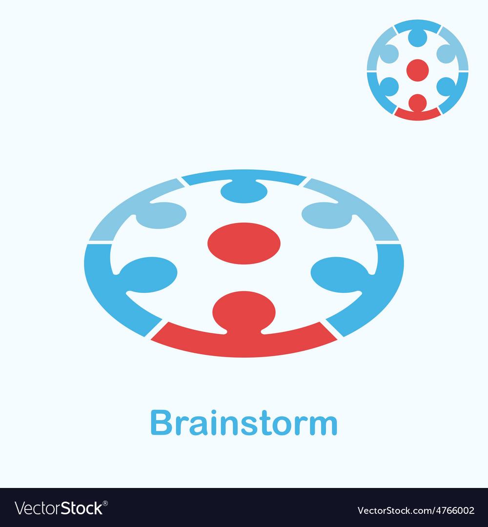 Brainstorm logo concept vector | Price: 1 Credit (USD $1)