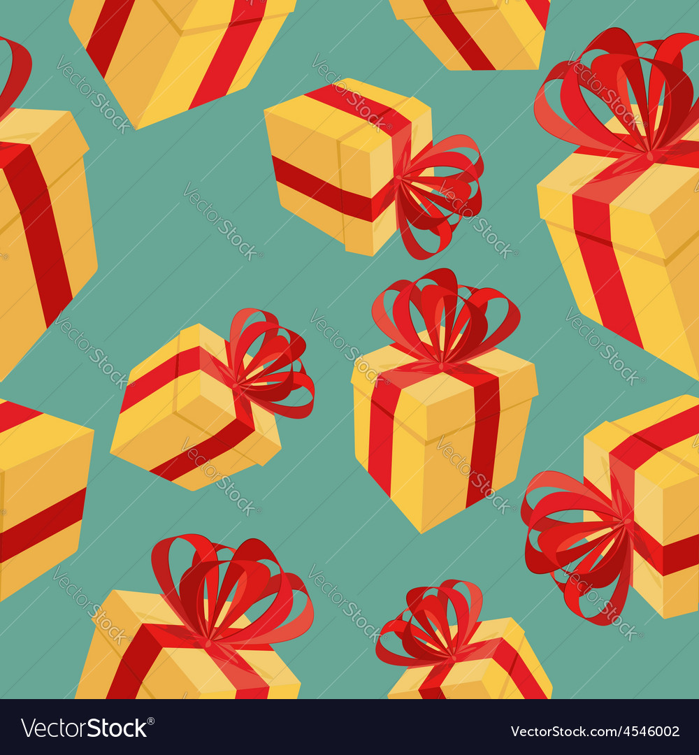 Gift boxes seamless pattern background for vector | Price: 1 Credit (USD $1)