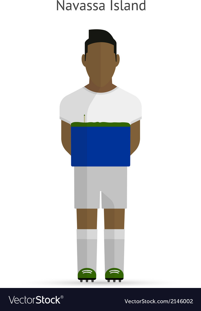 Navassa island football player soccer uniform vector | Price: 1 Credit (USD $1)