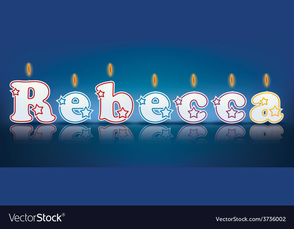Rebecca written with burning candles vector | Price: 1 Credit (USD $1)