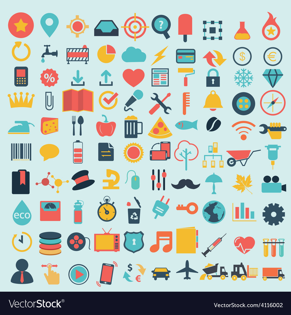 Shopping web design icons vector | Price: 1 Credit (USD $1)