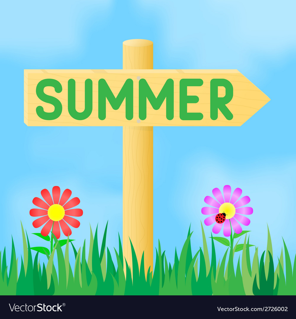 Sign with the inscription summer vector | Price: 1 Credit (USD $1)